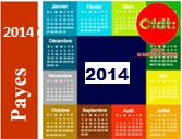 Calendrier salaire 2014